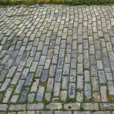 Blue cobblestones