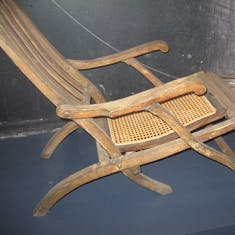 Only surviving original Titanic deck chair, Halifax museum
