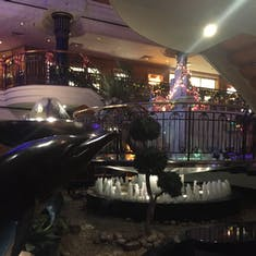 Atrium with Dolphin Art