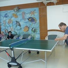 My Husband's Ping-Pong buddies.