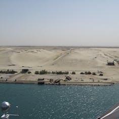 Suez Canal Transit - Transiting the Suez Canal on the Prinsedam