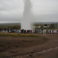 Geysers everywhere in Iceland too.
