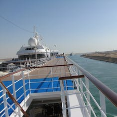 Cruising the Suez Canal--North to South--From the Seven Seas Mariner