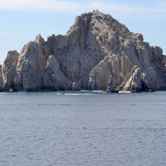 Rock formations approaching Cabo San Lucas (substitute port)