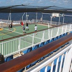 around the deck