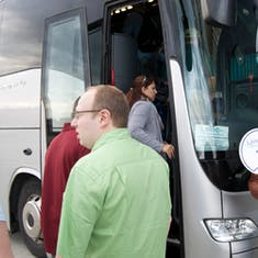 Boarding bus for Pisa/Florence Excursion