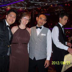 Last night with our dinning staff.