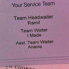 Best wait staff