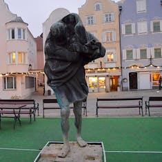 Sharding, Austria - St. Christopher Statue