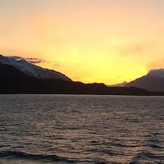 Sunset leaving Skagway
