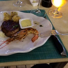 Surf and Turf at the Grill on the Silver Wind