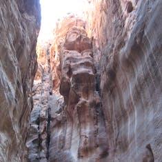 "Aqaba (Petra), Jordan - Entrance crevice to the ""Ancient City of Petra""---Jordan"