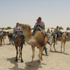 Camel ride in the Sierra Desert, Tunisia. Never thought I would have loved this.
