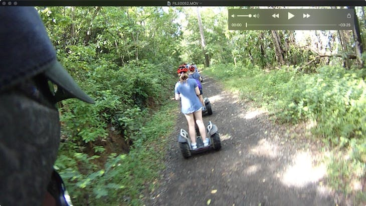 Castries, St. Lucia - Segway through forest