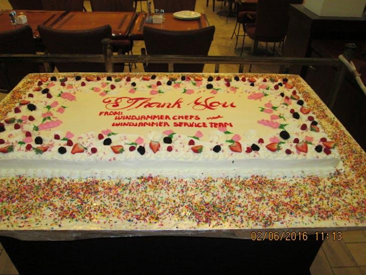 Thank You Cake - Freedom of the Seas