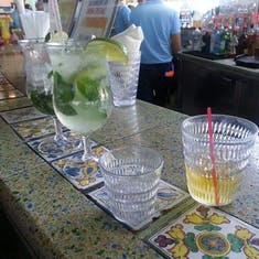 Headed directly to Redfrog Bar after boarding the Victory...Mojitos