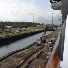Panama Canal Transit - Going through the Canal locks