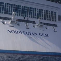 Aft of ship with name