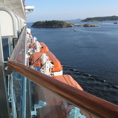 Leaving Kristinasand, Norway on Royal Princess