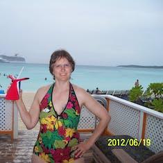 Half Moon Cay, Bahamas (Private Island) - A drink in the cabana rental on Half Moon Cay.