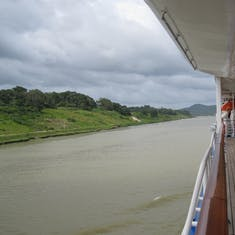 Panama Canal Transit - Headed to Lake Gatun view from deck 7.