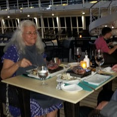 Dinner at The Grill aboard Silver Wind enroute from St Bart's to St Kitt's
