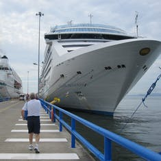 "San Juan Del Sur, Nicaragua - Back to the ship & docked next to ""University at Sea"""