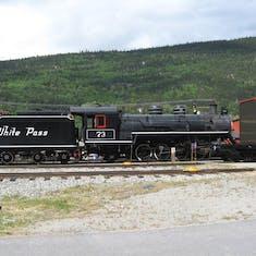 Skagway, Alaska - Historical locomotive (and tender) at Skagway.