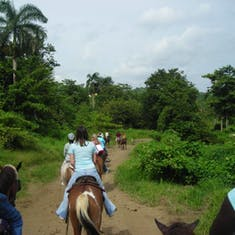 San Juan, Puerto Rico - Horseback riding through the rain forest