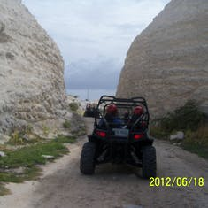 Grand Turk Island - Lime stone quarry that we drove through on the dune buggy excursion.