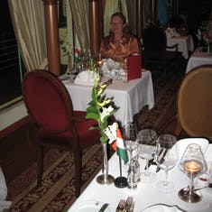 """Our table in the """"Pinnacle"""" yummy coming up"""