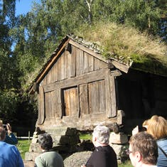Ancient food cache, restored, at outdoor museum, Norway