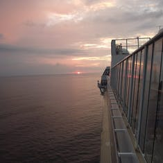At sea off Roatan