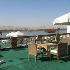 """Safaga (Luxor), Egypt - Nile River and the """"Valley of the Kings"""" beyond"""