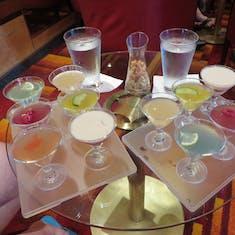 martini tasting on the Dawn