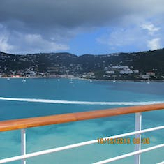 View from ship as we approach St. Thomas