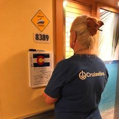 Entering cabin 8389