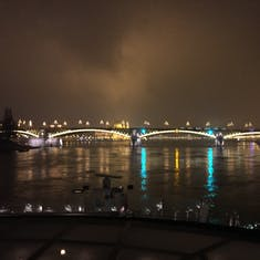 Budapest from the River at Night
