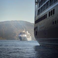 Santorini, Greece - Tendering back to Quest