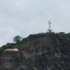 San Juan Del Sur, Nicaragua - Large Christ statue... largest in Nicaragua