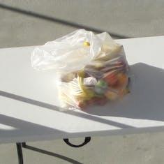 Puntarenas, Costa Rica - Confiscated fruit in Puerto Vallarta