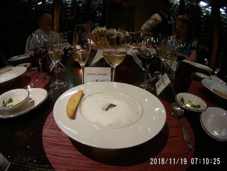 Chefs Table - Mushroom Cappuccino - Celebrity Summit