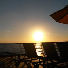 Sunset from Serenity aboard Carnival Sensation