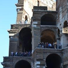 Wandering around the Coliseum.