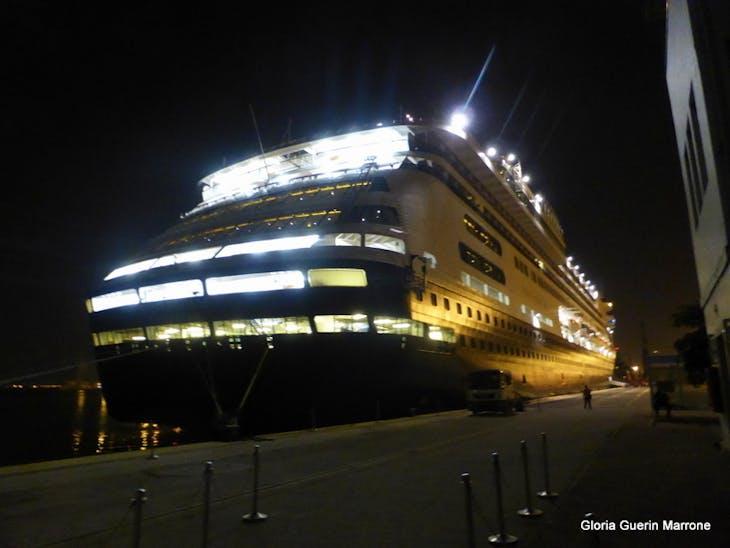 Ship in Port of Haifa (Tel Aviv), Israel - Amsterdam