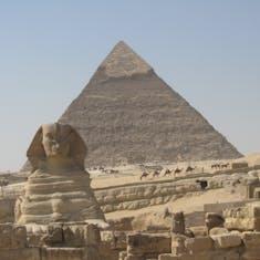 Pyramids of Giza--Cairo Egypt--
