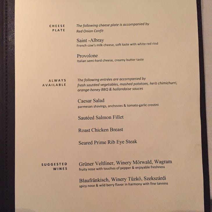 Dinner Menu - Viking Jarl