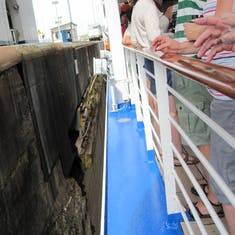 Panama Canal Transit - Start in Pedro Miguel Locks from deck 7 at 10:45 AM