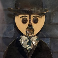 Hanibal Lecter meets Charlie Chaplin?  Ship art.
