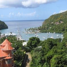 Typical view on Tobago in Caribbean